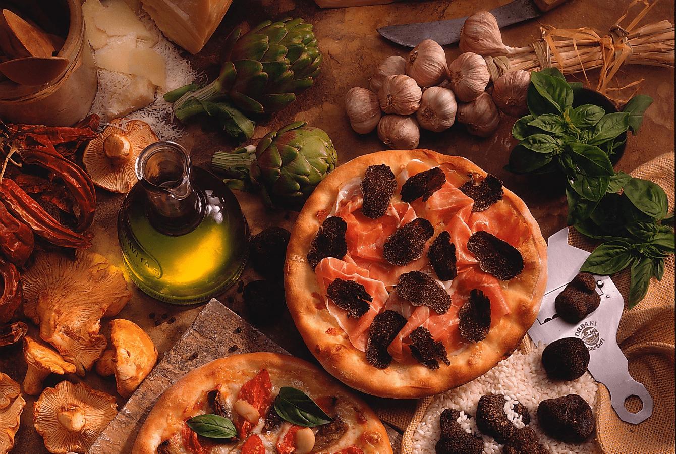 pizza bianca met truffel
